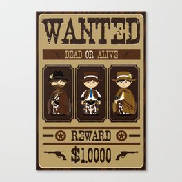 Cowboy Wanted Poster Canvas Print