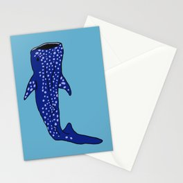 Whale Shark (blue) Stationery Cards