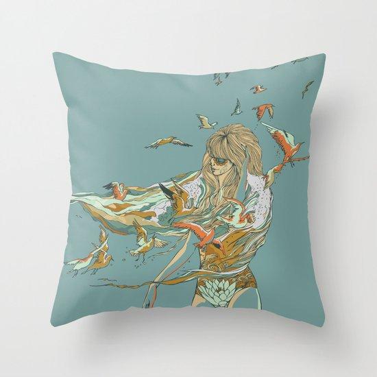 MELT INTO THE OCEAN Throw Pillow