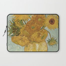 Vase with Twelve Sunflowers, Van Gogh Laptop Sleeve