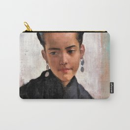 11,000px,500dpi-Albert Edelfelt - Girl from Toledo, Dolores - igital Remastered Edition Carry-All Pouch
