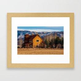 Barn Style House - Heber Valley - Utah Framed Art Print