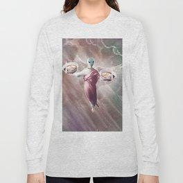 Ramen Alien Jesus Long Sleeve T-shirt