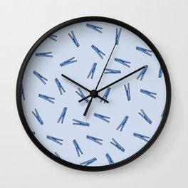 Clothes Pins Wall Clock