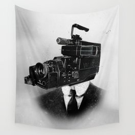 Faces of the Past: Camcorder Wall Tapestry