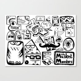 Little Musket Monsters Canvas Print