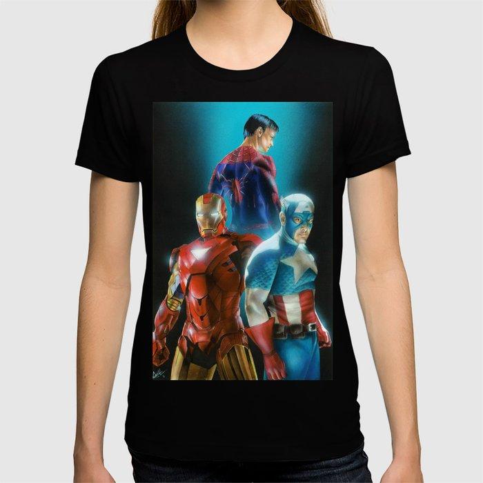Civil War featuring Captain America, Spiderman, & Ironman T-shirt