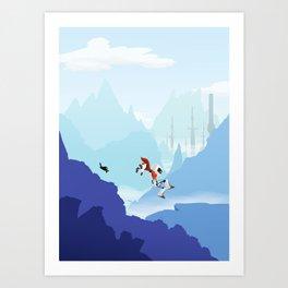 Down The Mountainside Art Print