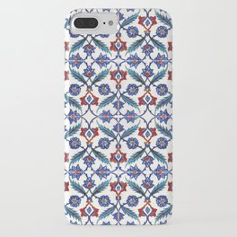 Iznik Tile Pattern Red Blue White Green iPhone Case