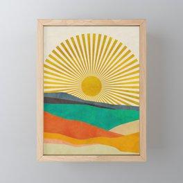 hope sun Framed Mini Art Print
