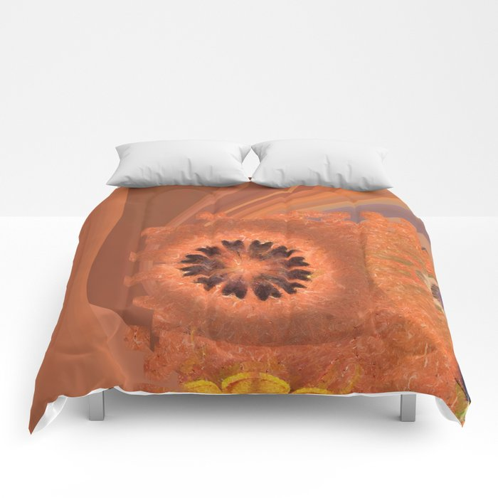 Evolving Truth Flowers  ID:16165-093100-83380 Comforters