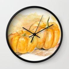 Mini Pumpkins II Wall Clock