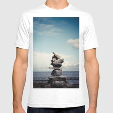 Reach for Your Dreams Mens Fitted Tee MEDIUM White