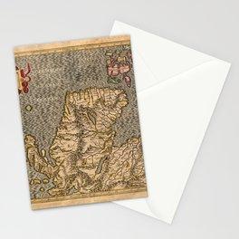 Vintage Map of Scotland Stationery Cards