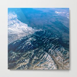 The Mountains Below Metal Print