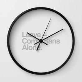 Leave Comic Sans Alone Wall Clock