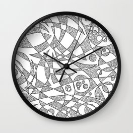 Scattered 2 Wall Clock