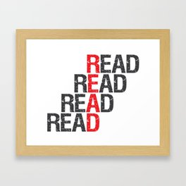 Read Read Read Read Framed Art Print