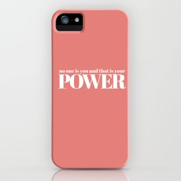 no one is you iPhone Case