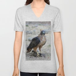 Red Tailed Hawk Catch Unisex V-Neck