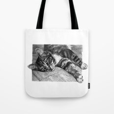 Resting Kitty G064 Tote Bag