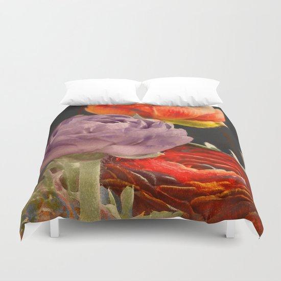 Vintage Ranunculus Duvet Cover