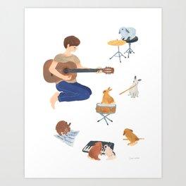 Band member Art Print