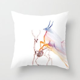 Oh deer skeleton #2 Throw Pillow