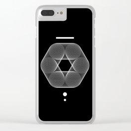 Mesh Geometry III Black Clear iPhone Case
