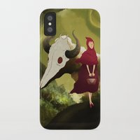 red hood iPhone & iPod Cases featuring red hood by R,oh