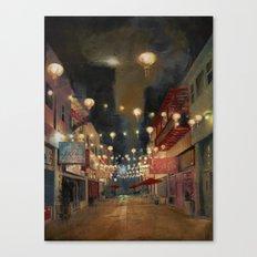 Lights on Chung King Canvas Print