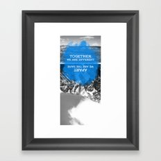 together and apart Framed Art Print