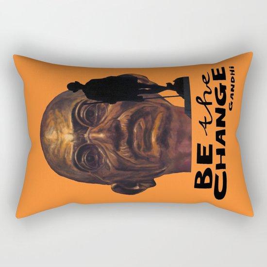 GANDHI quote Rectangular Pillow