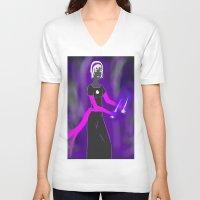 homestuck V-neck T-shirts featuring Grimdark Rose by Paula Urruti