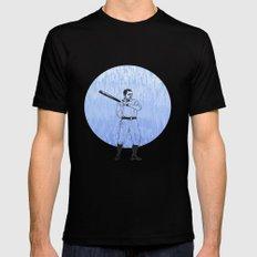 Baseball-The Boys of Summer   Mens Fitted Tee Black MEDIUM