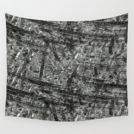 Gouged Stainless Texture Wall Tapestry