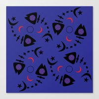 occult Canvas Prints featuring Occult Fish by Lucky Nothin