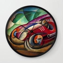Italian Luxury Sport Racing 'Senza titolo' by Ugo Gianattasio Wall Clock