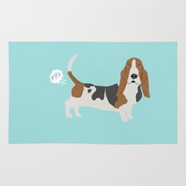 Basset Hound dog breed funny dog fart Rug