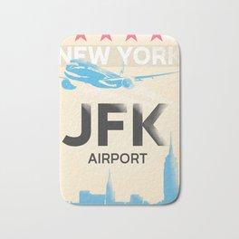 JFK stylish airport code Bath Mat