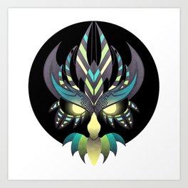 Aztec Owl Art Print