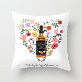 Whiskey Is Liquid Sunshine Throw Pillow