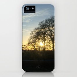 Incoming Sunset iPhone Case