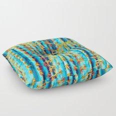 Neon Gold Cactus Floor Pillow