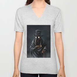 Plague doctor Unisex V-Neck