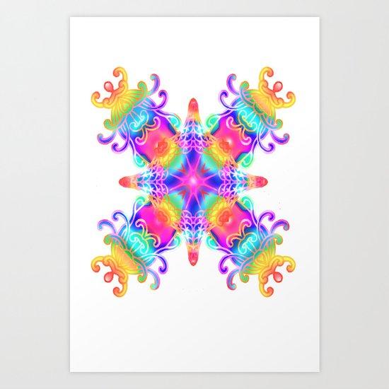 Colours Colours Art Print