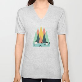 The High Mountains Unisex V-Neck