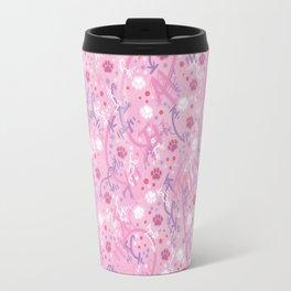 Strawberry Smoothie Paw Prints Travel Mug