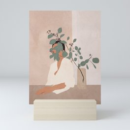 Behind the Leaves Mini Art Print
