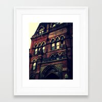 gothic Framed Art Prints featuring Gothic by Valentines